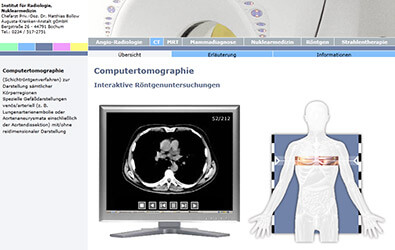 Flash-Animation: 'Computertomographie: Interaktive Röntgenuntersuchungen'
